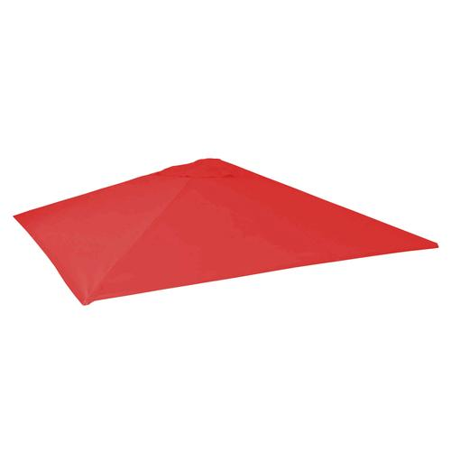 Mendler Bezug für Gastronomie Sonnenschirm HWC-D20 5x5m (Ø72m) Polyester rot
