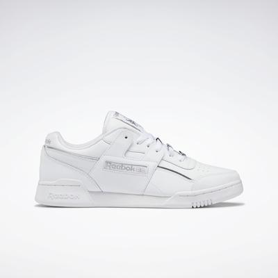 Reebok Unisex Workout Plus Shoes in Ftwr White/Matte Silver/Ftwr White Size M 13 / W 14.5 - Training Shoes