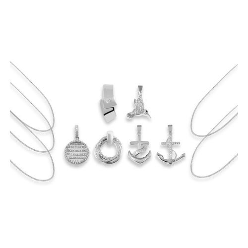 Anhänger opt. mit Halskette: 2x Halskette / 45 cm + 50 cm