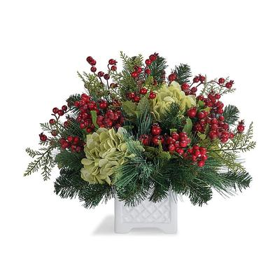 Evergreen Hydrangea Berry Arrang...