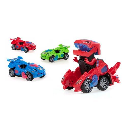 Dinosaurier-Auto: Blau/1