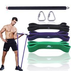 Équipements de fitness larges musculation Barre de résistance avec crochet, barre de Fitness,