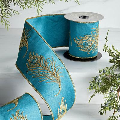 Peacock Embroidery Ribbon - Fron...