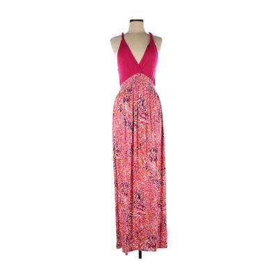 FELICITY & COCO Casual Dress - Maxi: Pink Floral Dresses - Used - Size Large
