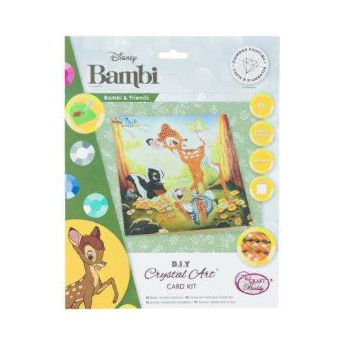 Crystal Art Disney Bambi and Friends, 18 x 18 cm Kristallkunst-Karte