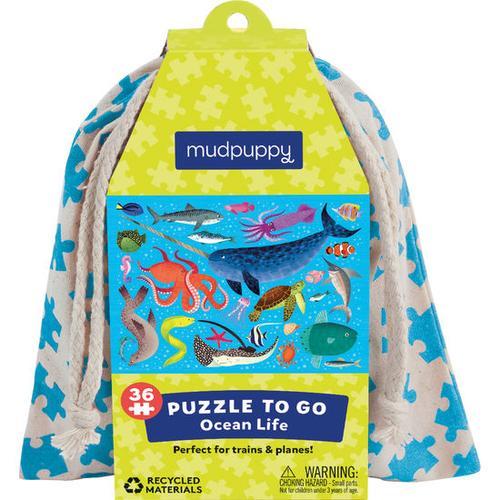 JAKO-O Puzzle To Go Ocean Life, blau