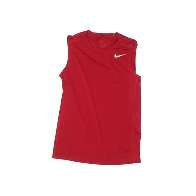 Nike Active Tank Top: Red Solid ...