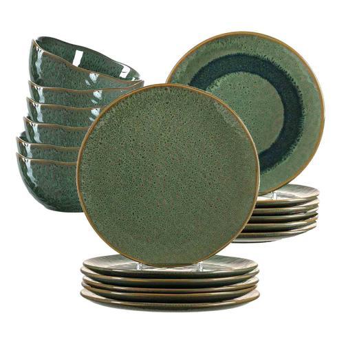Leonardo MATERA Geschirr Tafelservice grün18-teilig