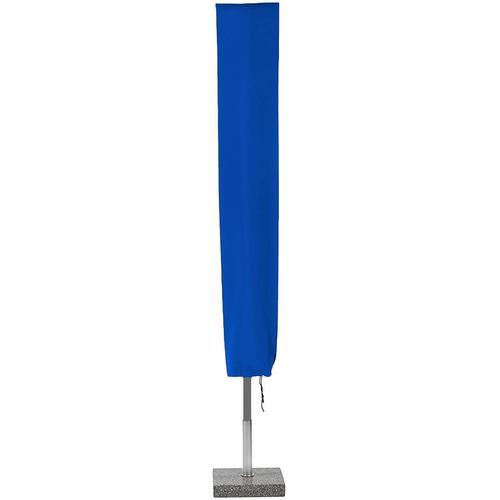 Planesium Abdeckplane für Sonnenschirm Blau 230cm x Ø 45cm Hülle Abdeckung Schutzhülle Haube Ampelschirm