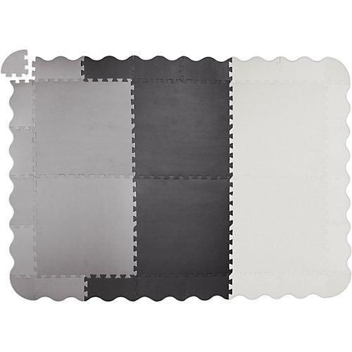 Puzzlematte mit Rand 177 x117 cm grau