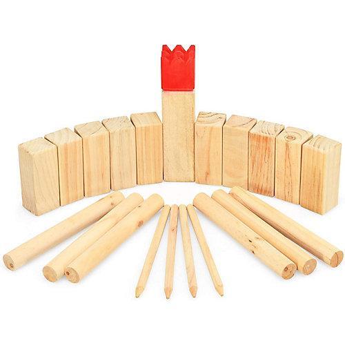 Holzspiel 21 TLG. rot/natur