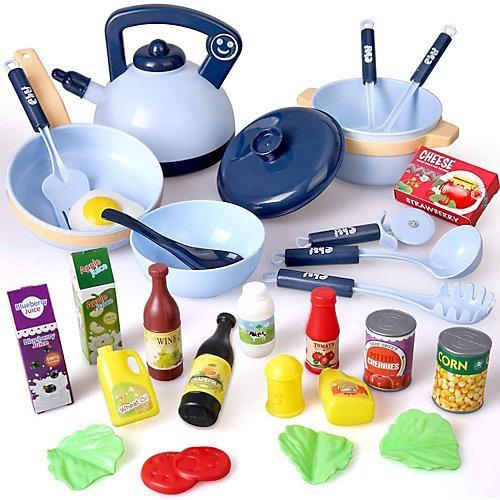 Spielgeschirr kochen Geschirr Set blau