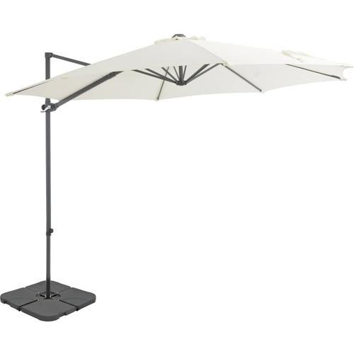 Sonnenschirm mit Schirmständer Sand - Beige