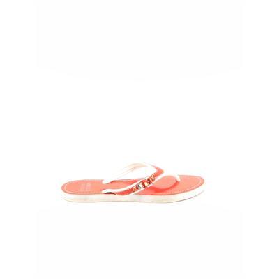 Stuart Weitzman Flip Flops: Orange Solid Shoes - Size 7