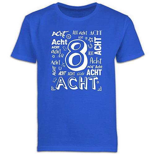 Kindergeburtstag Geburtstag Geschenk 8. Geburtstag Zahlen T-Shirts Kinder blau Kinder