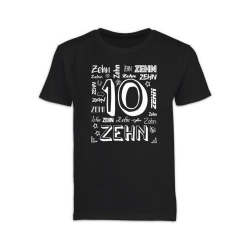 Kindergeburtstag Geburtstag Geschenk 10. Geburtstag Zahlen T-Shirts Kinder schwarz Kinder