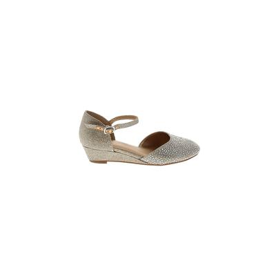 GB Girls Dress Shoes: Gold Solid Shoes - Size 12