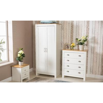 Country-Style Bedroom Furniture: Three-Piece New Bedroom Set/White