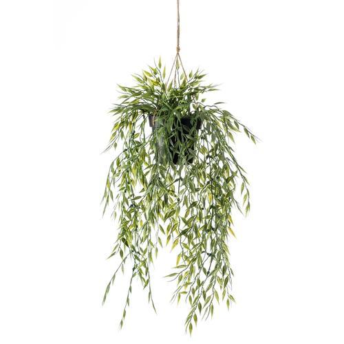 Emerald Kunstpflanze Bambus Hängend in Topf 50 cm