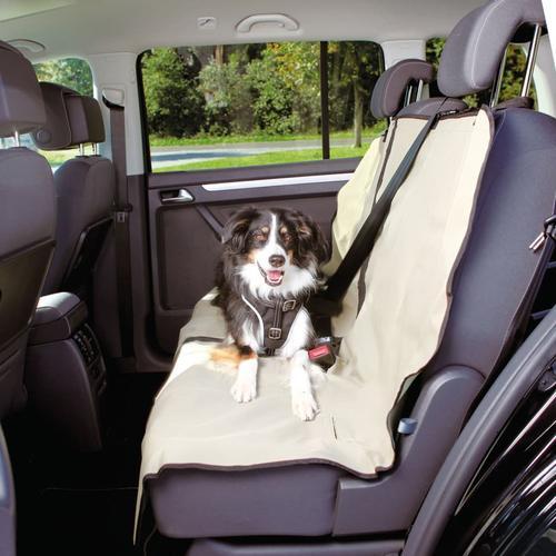 TRIXIE Rücksitzschoner für Hunde 140x120 cm Teilbar Beige
