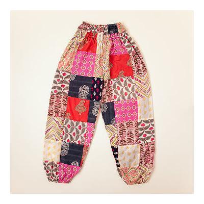 Repurposed Cotton Sari Lounge Pants