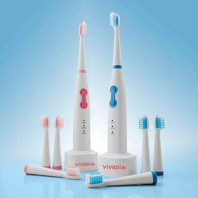 Pack Of 2 Sonic Toothbrushes & 8...