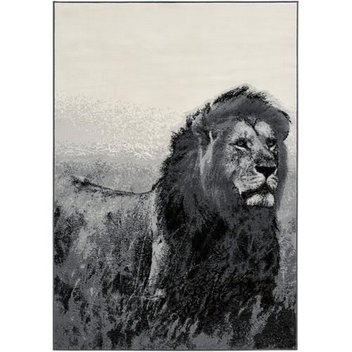 Teppich mit großem Löwenmotiv