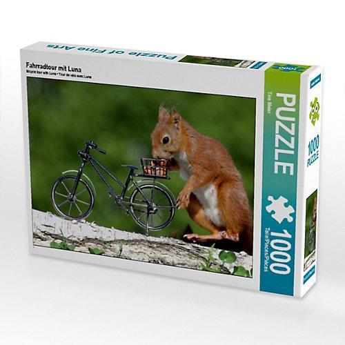 Fahrradtour mit Luna Foto-Puzzle Bild von Tine Meier Puzzle