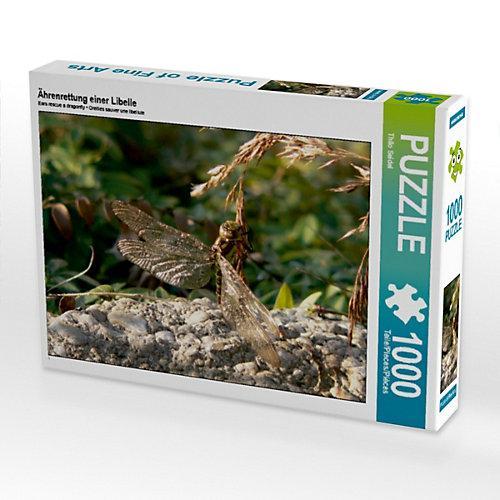 Ährenrettung einer Libelle Foto-Puzzle Bild von Thilo Seidel Puzzle