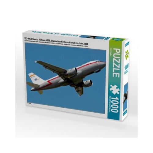 EC-KKS Iberia, Airbus A319, Düsseldorf International im Jahr 2008 Foto-Puzzle Bild von Udo Haafke Puzzle
