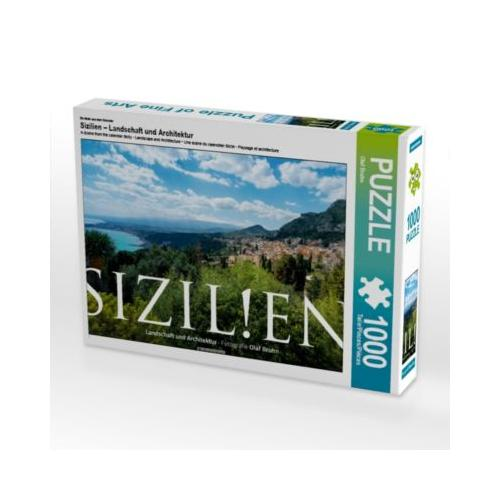 Sizilien – Landschaft und Architektur Foto-Puzzle Bild von Olaf Bruhn Puzzle