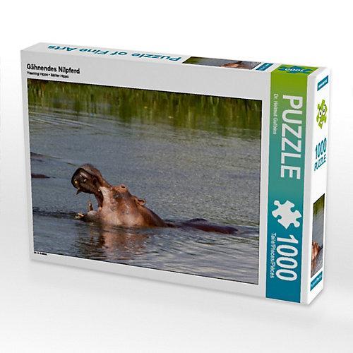 Gähnendes Nilpferd Foto-Puzzle Bild von Hawkeyes-Pictures Puzzle
