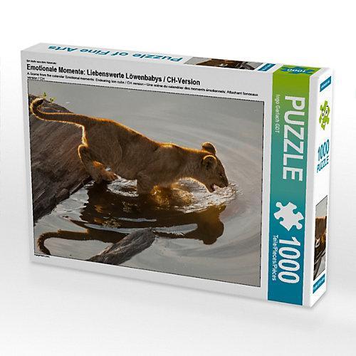 Emotionale Momente: Liebenswerte Löwenbabys / CH-Version Foto-Puzzle Bild von Ingo Gerlach Puzzle