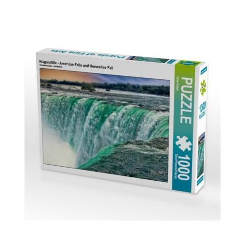 Niagarafälle - American Falls und Horseshoe Fall Foto-Puzzle Bild von Peter Roder Puzzle