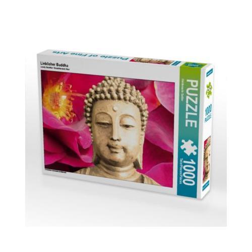 Lieblicher Buddha Foto-Puzzle Bild von Heidemarie Sattler Puzzle