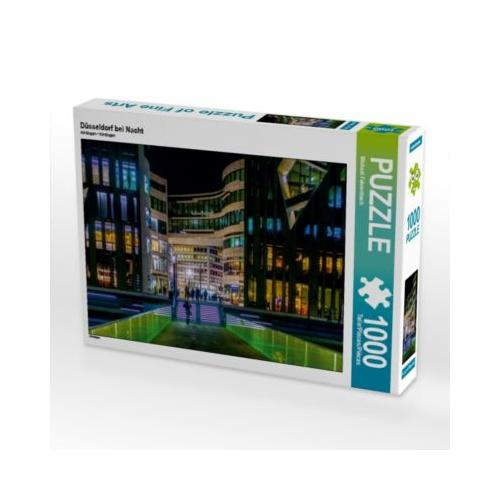 Düsseldorf bei Nacht Foto-Puzzle Bild von Michael Fahrenbach Puzzle
