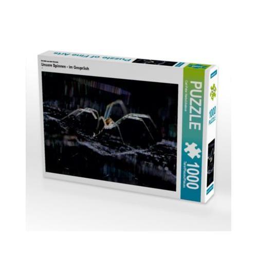 Unsere Spinnen - im Gespräch Foto-Puzzle Bild von Carl-Peter Herbolzheimer Puzzle