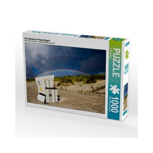 Strandkorb im Regenbogen Foto-Puzzle Bild von A. Dreegmeyer Puzzle