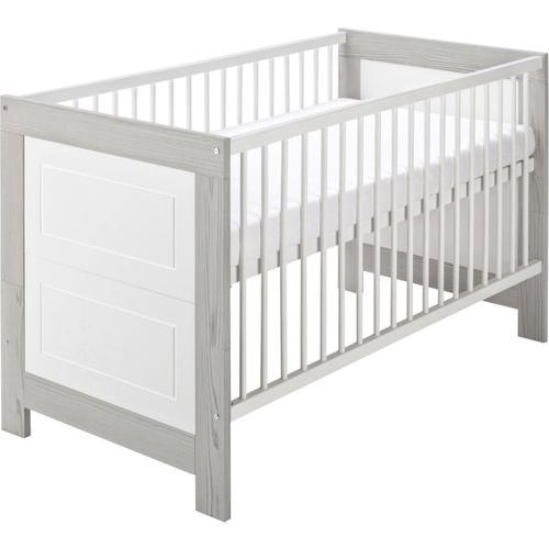 Kombi-Kinderbett 70 x 140 cm, Scandic grau/weiß