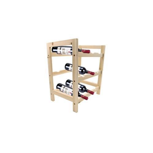 Holz-Flaschenregal für 9 Flaschen Wein oder Sekt