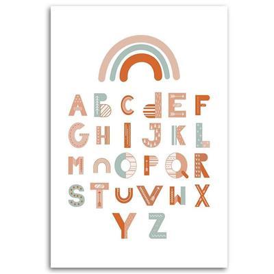 Tableau enfant alphabet multicol...