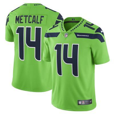 Men's Seattle Seahawks DK Metcalf Nike Neon Green Vapor Limited Player Jersey