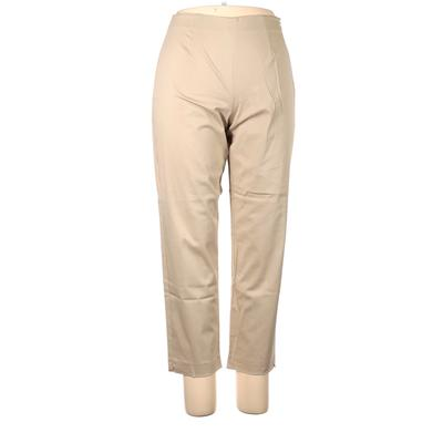 Clothes (real) Saks Fifth Avenue Casual Pants - Mid/Reg Rise: Tan Bottoms - Size 14