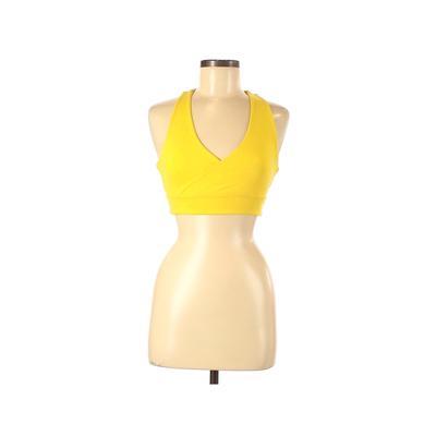Margarita Sports Bra: Yellow Solid Activewear