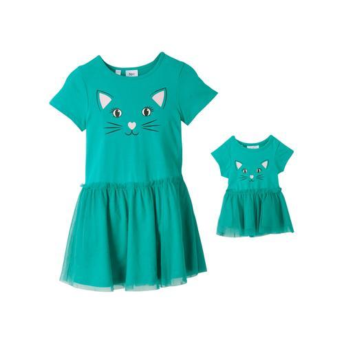 Mädchen Kleid und Puppenkleid (2-tlg.)