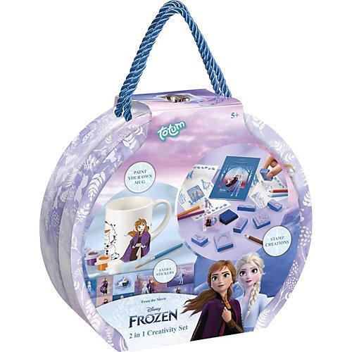 FROZEN II Geschenkbox - Tasse zum Bemalen & Stempelset & Sticker