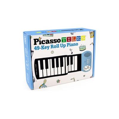 Briarpatch Multi PicassoTiles 49-Key Roll Up Piano