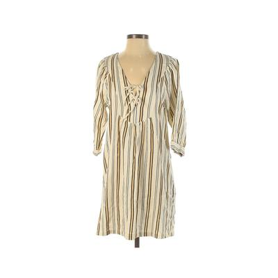Designers Society Casual Dress - Mini: Ivory Print Dresses - Used - Size X-Small