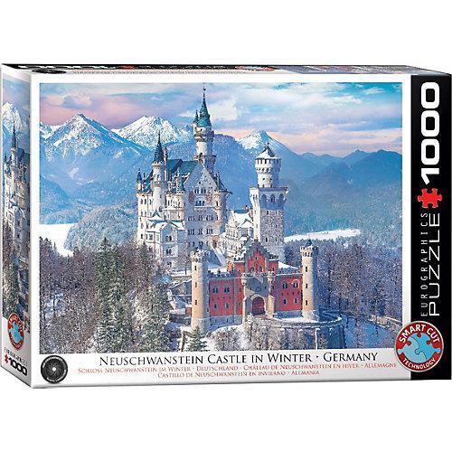 Puzzle 1000 Teile-Schloss Neuschwanstein Winter