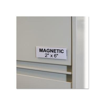 """""""C-Line Hol-Dex Magnetic Label Holders, 2 X 6, Clear, 10 Holders (Cli87247)"""""""